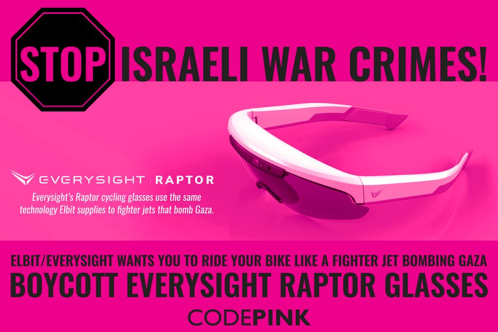 Hey @ghincapie , dont ride in support of Israeli apartheid! We are calling on you to stand up for Palestinian human rights & boycott @goEverySight Raptor glasses!