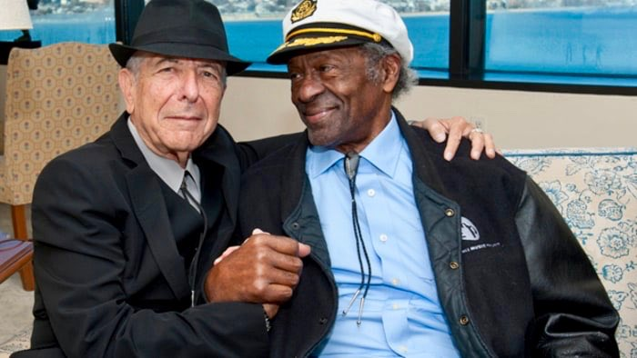 Leonard Cohen and Chuck Berry. <br>http://pic.twitter.com/YFlzMTiXNZ