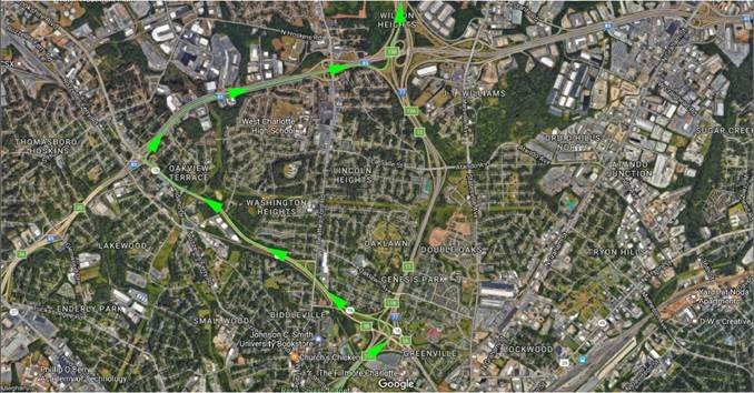 Detours will be in place on Northbound I-77 between I-85/I-77 interchange and Brookshire Fwy/I-77 interchange from 11pm to 5am, with ramps temporarily closed #clttraffic #I77<br>http://pic.twitter.com/bEXn9DO8LK