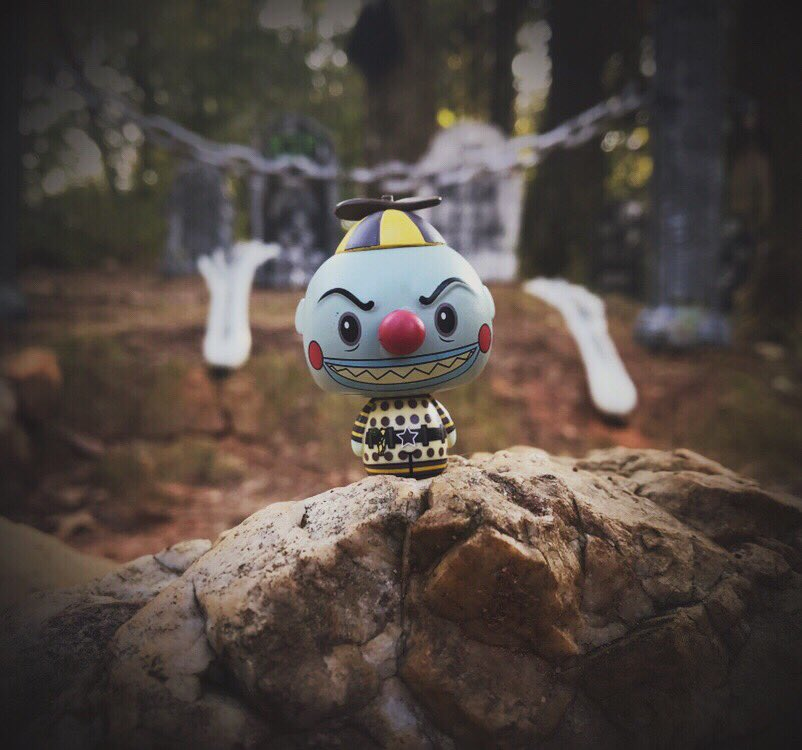 """I am the clown with the tear-away face Here in a flash and gone without a trace"" @OriginalFunko #PSHHappyHour"
