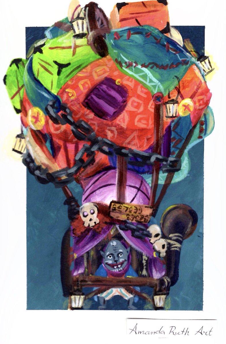 Amandaruthart On Twitter Linktober Day 12 Mask I Painted Kilton S Fang And Bone Monster Shop This Might Be One Of My Favorite Linktober Paintings So Far Linktober Linktober2018 Artistsoflegend Zelda Tloz Botw