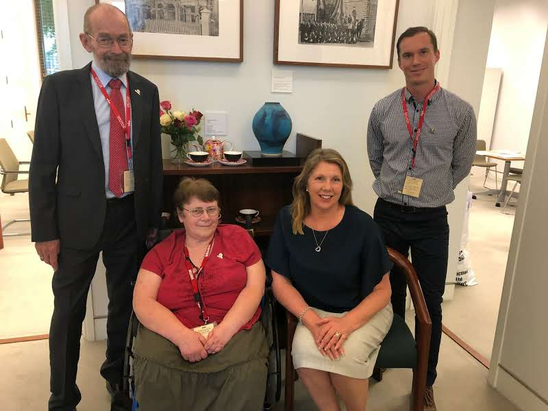 Thank you @CatherineKingMP for taking the time to meet with @PolioAustralia's Alan Cameron, Gillian Thomas and Paul Cavendish (L-R) to discuss the needs of polio survivors in Australia.