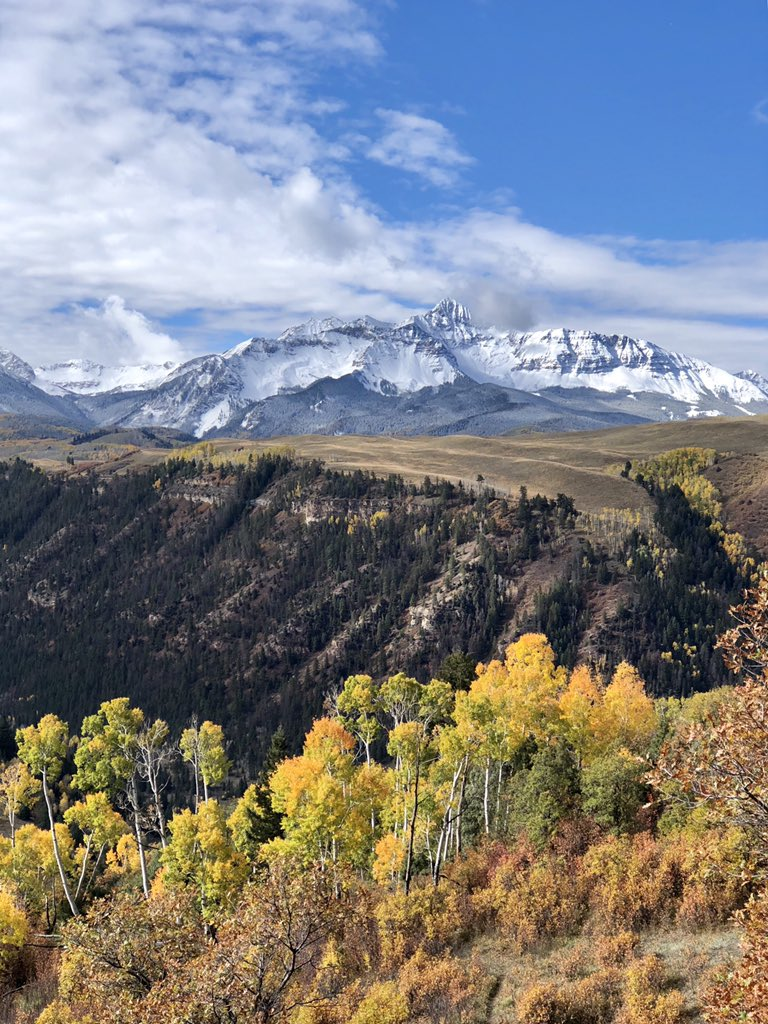 '@wbkight: Snowcapped Wilson Mountains to compliment the end of #Telluride, @Colorado's #fall colors.' https://t.co/sAl603F8c8