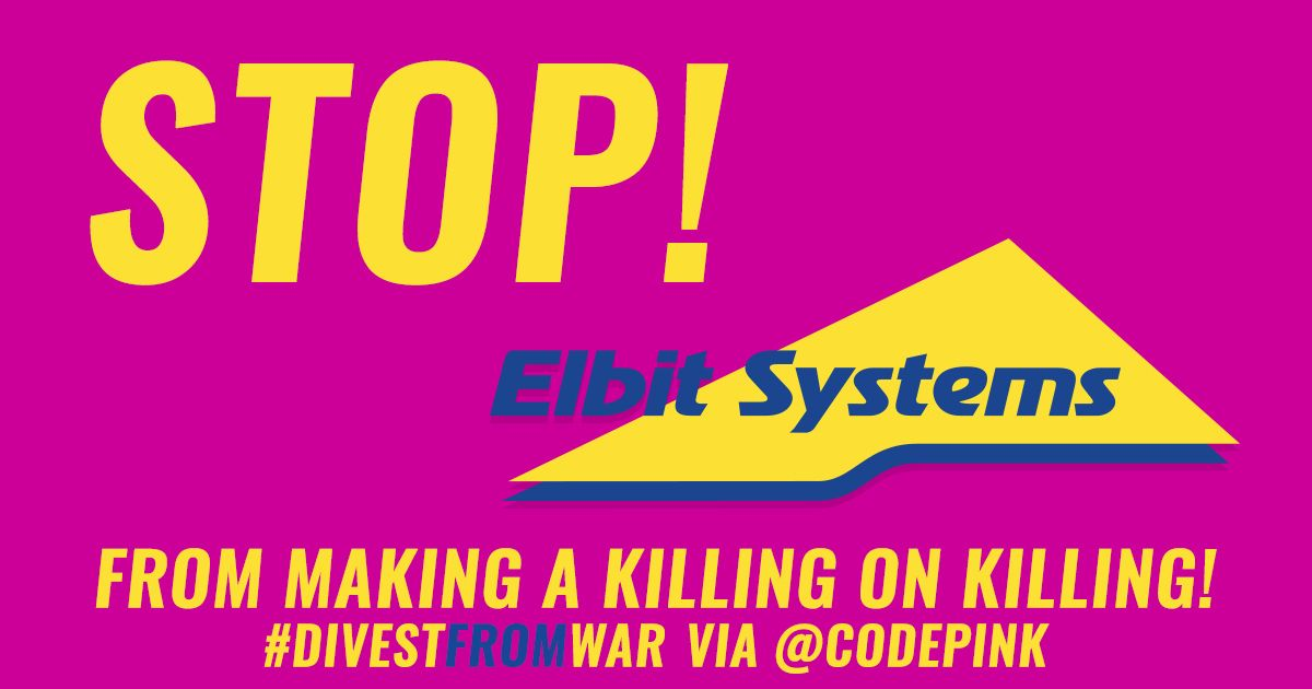 From Palestine to the U.S.-Mexico border, @ElbitSystemsLtd is responsible for war crimes and repression, providing radar surveillance systems for the U.S.-Mexico border and Israel's apartheid wall. Take action to #DivestFromWar at codepink.org/stopelbit