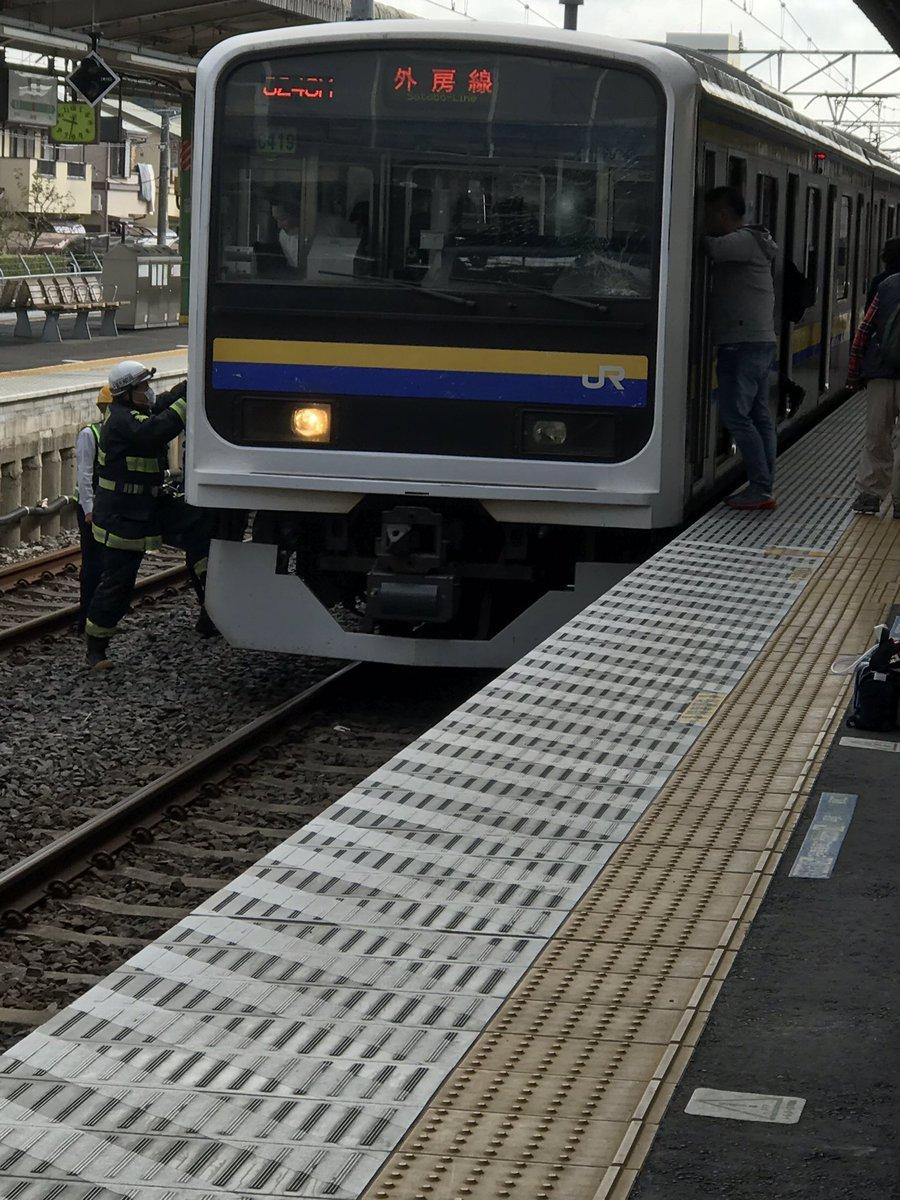 誉田駅で人身事故が起きた現場の画像