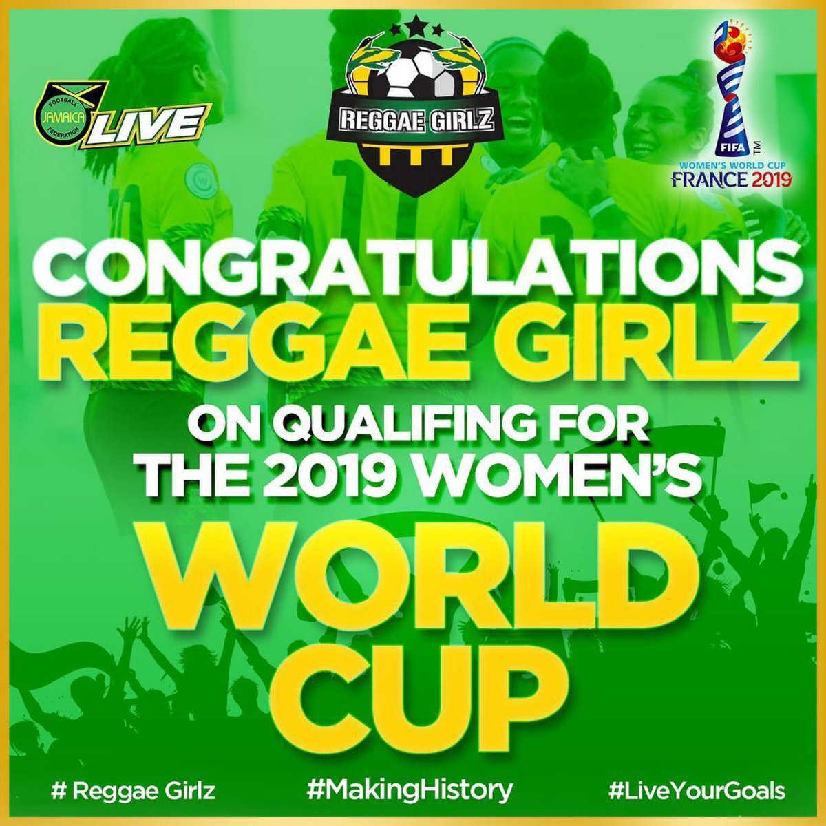 the gifts just keep on coming today another great birthday present for me 😉 thank you @ReggaeGirlzJA big up 🇯🇲🇯🇲🇯🇲👍🏾👍🏾🎉🎉🎉 time for more #celebrations 😃😀