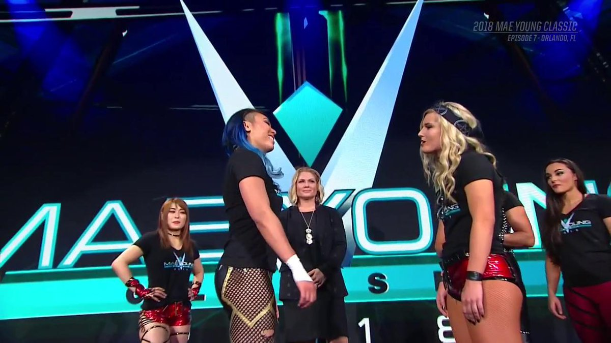 Theyve come face-to-face. Tonight... theyll go head-to-head. @tonistorm_ @MiaYim #WWEMYC