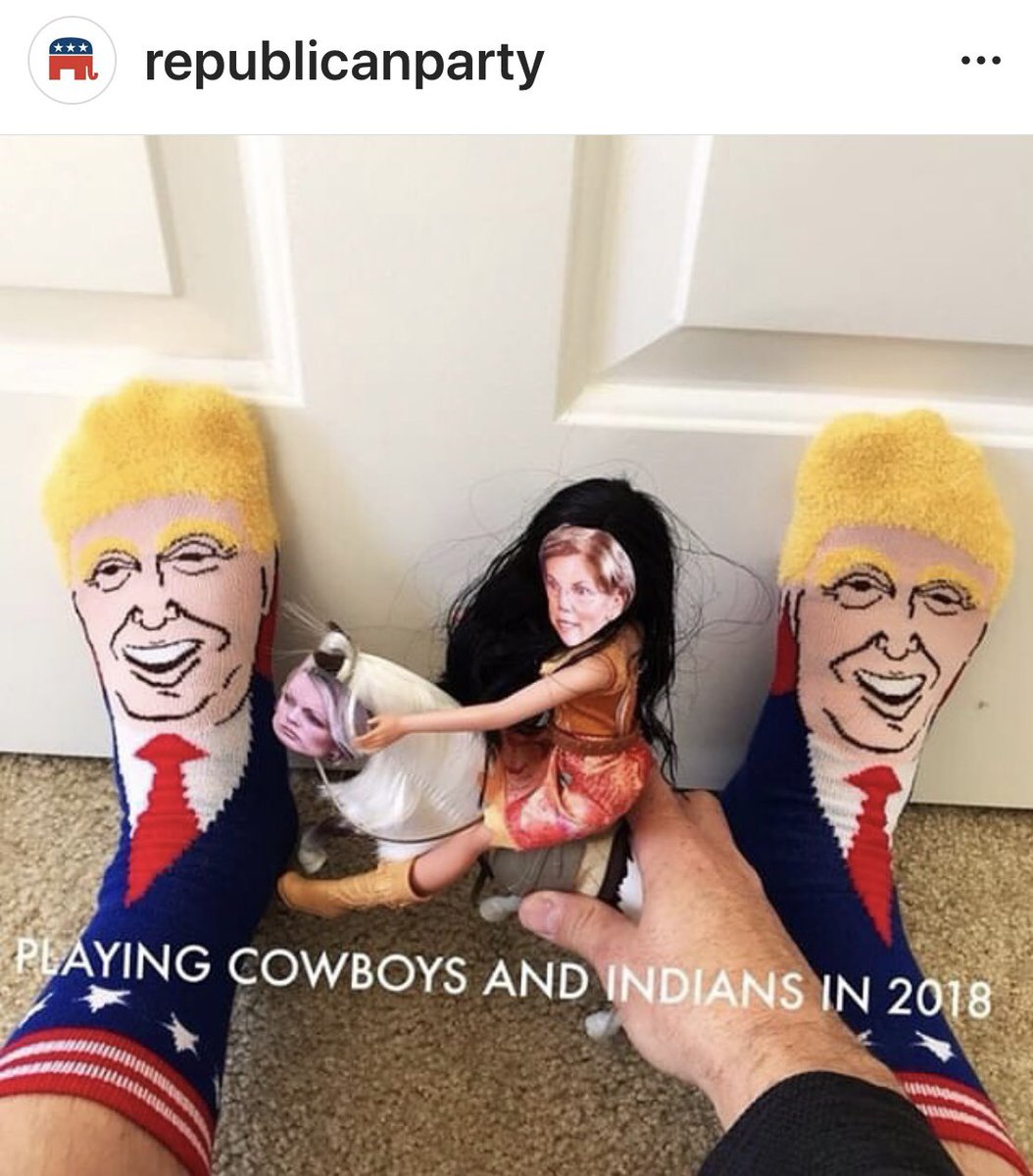 I can't take the credit. This is from Republican Party on Instagram. #maga #Pochahontas #cowboytrump #republicans #RedWaveComing2018 #voteoutsenwarren #WalkAwayFromDemocrats2018<br>http://pic.twitter.com/kMAlilidXE