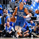 Image for the Tweet beginning: Aaron Gordon posts a double-double