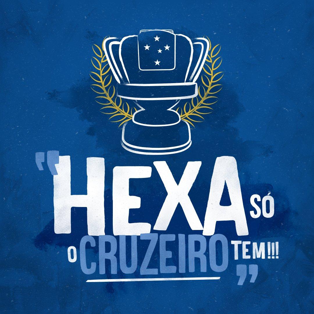 QUEM DISSE QUE O HEXA NÃO VIRIA? QUEM DISSE?  HEXA, NO BRASIL, SÓ EU E NOSSOS TORCEDORES!!!! #HEXASÓOCRUZEIRO