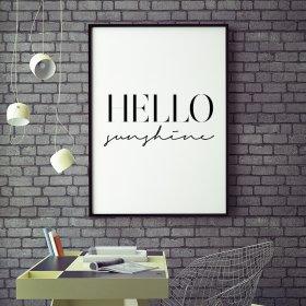 #Hello #Sunshine #Poster #par #MottosPrint 25€ #cadeaux #Horloge Poster Bougie Tirelire Livraison gratuite #Marseille #France  http:// www.peynier.com/meuble-HELSXT.html  - FestivalFocus