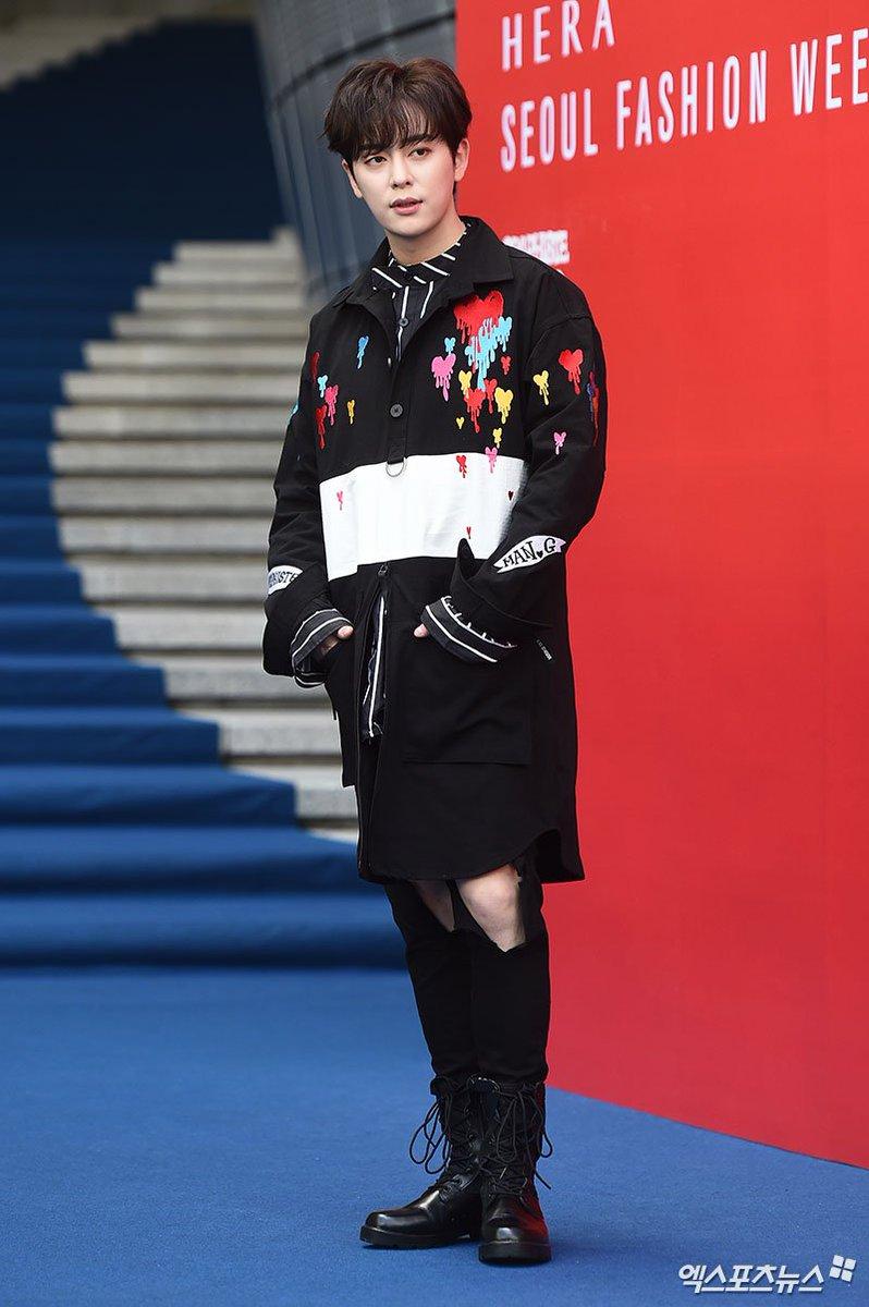 BOYFRIEND Donghyun, UNB Marco &amp; Daewon today at 2019 S/S HERA Seoul Fashion Week for GRAPHIST E MAN.G @G_BoyFriend @official_UN_B<br>http://pic.twitter.com/m91j6V0Gi4