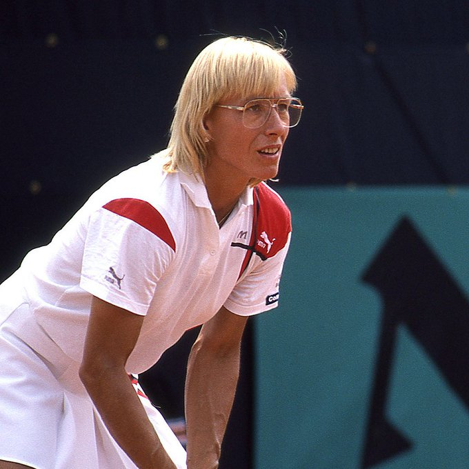 One of the greats of the game...  Many happy returns to Navratilova, who celebrates her birthday today