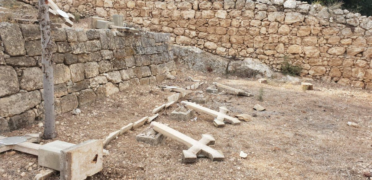 Vandals destroy Christian cemetery in #Israel in apparent hate crime https://t.co/Lf9wENz3mY https://t.co/JtDdU4lxQb