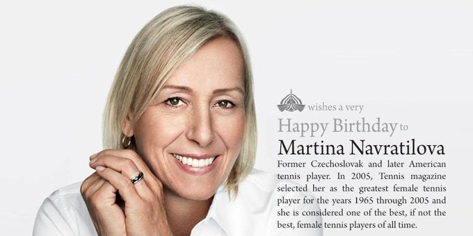 Happy birthday Martina Navratilova!