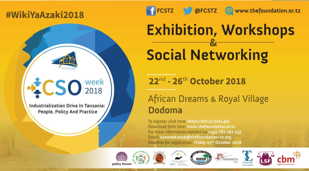 #WikiYaAzaki2018 is kicking off from Monday 22nd to 26th October 2018. Get ready for the most interesting debates about CSO's roles in Industrialization policy and implementation.