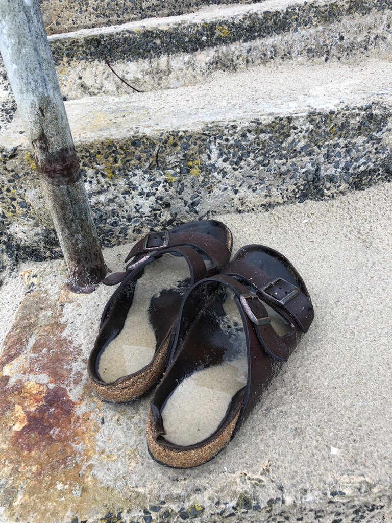 Guys: I found abandoned, water-and-sand-filled Birks on a beach in #tasmania. Do I alert the authorities?