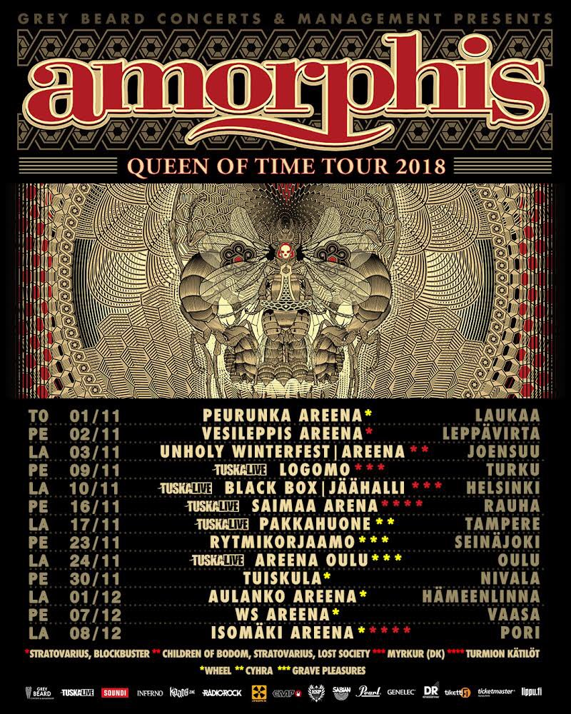 🇫🇮 Parin viikon päästä mennään! Ostakaa liput ajoissa, Tampere on jo loppuunvarattu🤘#amorphis #queenoftimetour @TIKETTIofficial @TicketmasterFI @lippu_fi https://t.co/SfPmfxSjpR