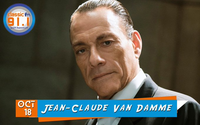 Happy birthday to actor, producer and martial artist, Jean-Claude Van Damme.