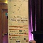 Image for the Tweet beginning: #TechFin2018 Des sujets importants et