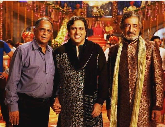Wishing my dad, Pahlaj sir and Govinda sir all the best for their upcoming film #RangeelaRaja releasing