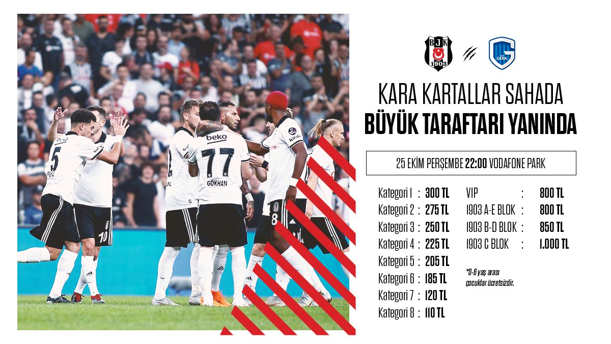 Genk Maçı Biletleri Satışa Sunuldu �� https://t.co/uJyumvSk66 ➡ https://t.co/V6BwnK0a5b #Beşiktaş https://t.co/scDruP8JL4