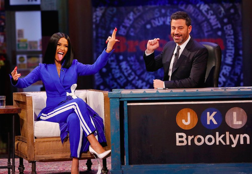 Watch Cardi B speak on her pregnancy, fame, and NY's racoon problem on @JimmyKimmelLive: https://t.co/jUshN3ZgMG  https://t.co/zyHYAQgbsU