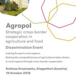 Last preparations for our first #Agropol event on crossborder cooperation in #agriculture and #food are under way. You can still register for our events in #Brussels and #Portugal https://t.co/GCTWBZGGfC #interreg #euregionsweek
