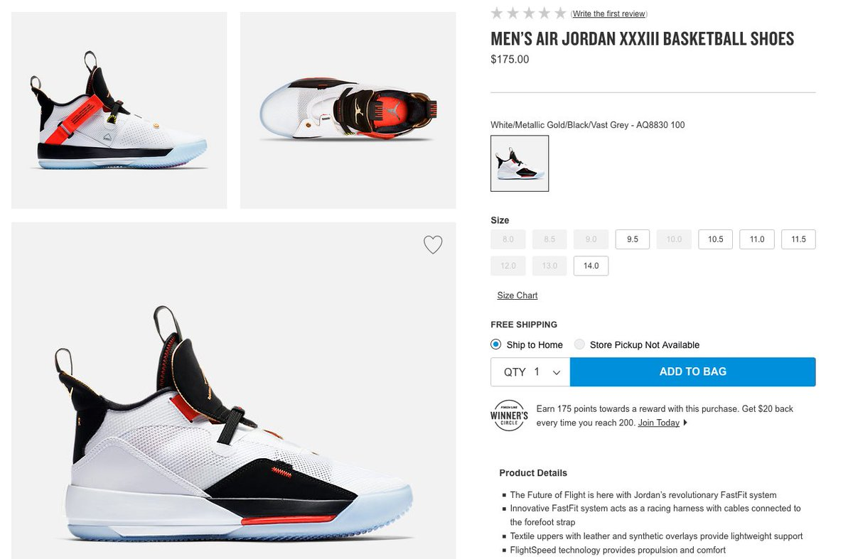 da21adcc684f Air Jordan 33 selling out quick on Finishline: http://bit.ly/2J3Ednl  Additional retailers: Eastbay: http://bit.ly/2CQ7JNc Foot Locker:  http://bit.ly/2CliWUC ...