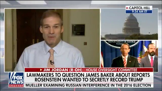 Rep. @Jim_Jordan: 'The fact that Rod Rosenstein was a no-show last week is something that is just not right.' https://t.co/s96doznEtZ