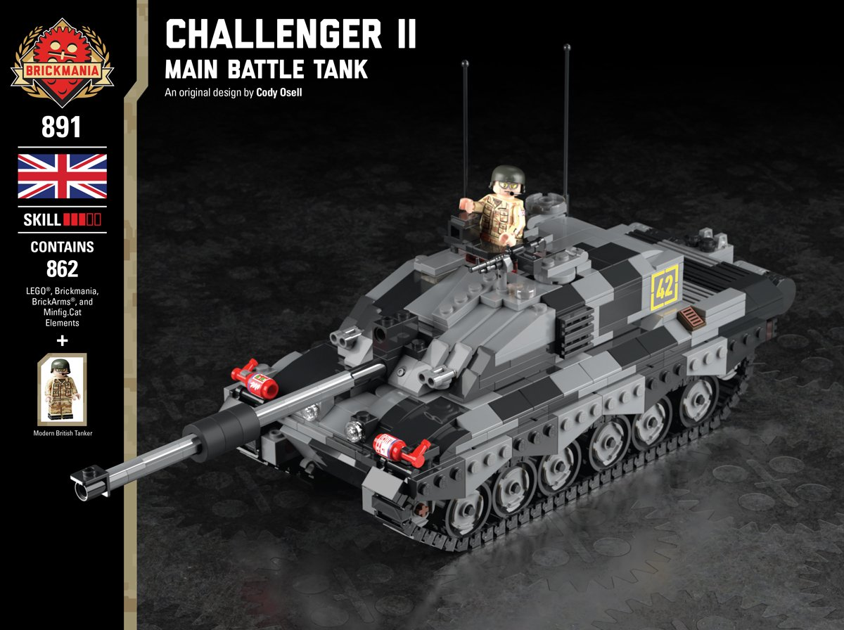 Brickmania Toys Ar Twitter Time S Running Out Copy 1 Of Our Challenger Ii Main Battle Tank Is Up For Auction Right Now This Copy Is Signed By Designer Cody Osell And