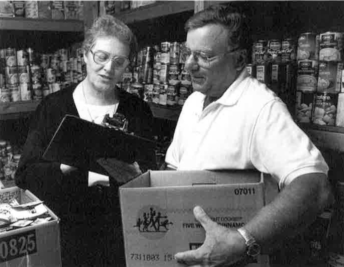 test Twitter Media - #TBT: (1998) Sr. Albertus Dougherty and Companion Gene Baiocchi volunteer at the St. Mary Medical Center's Pendell Shelter food pantry. https://t.co/FmbM7x8q6I