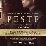 El 23 de octubre tenemos nuevo seminario: 'El papel de la Mujer en la cultura'. Entrada libre hasta completar aforo #LosMartesDeLaPeste @pablodeolavide 🐀🐀🐀. ¡Inscríbete aquí! 👉https://t.co/HNG5n5jeLi