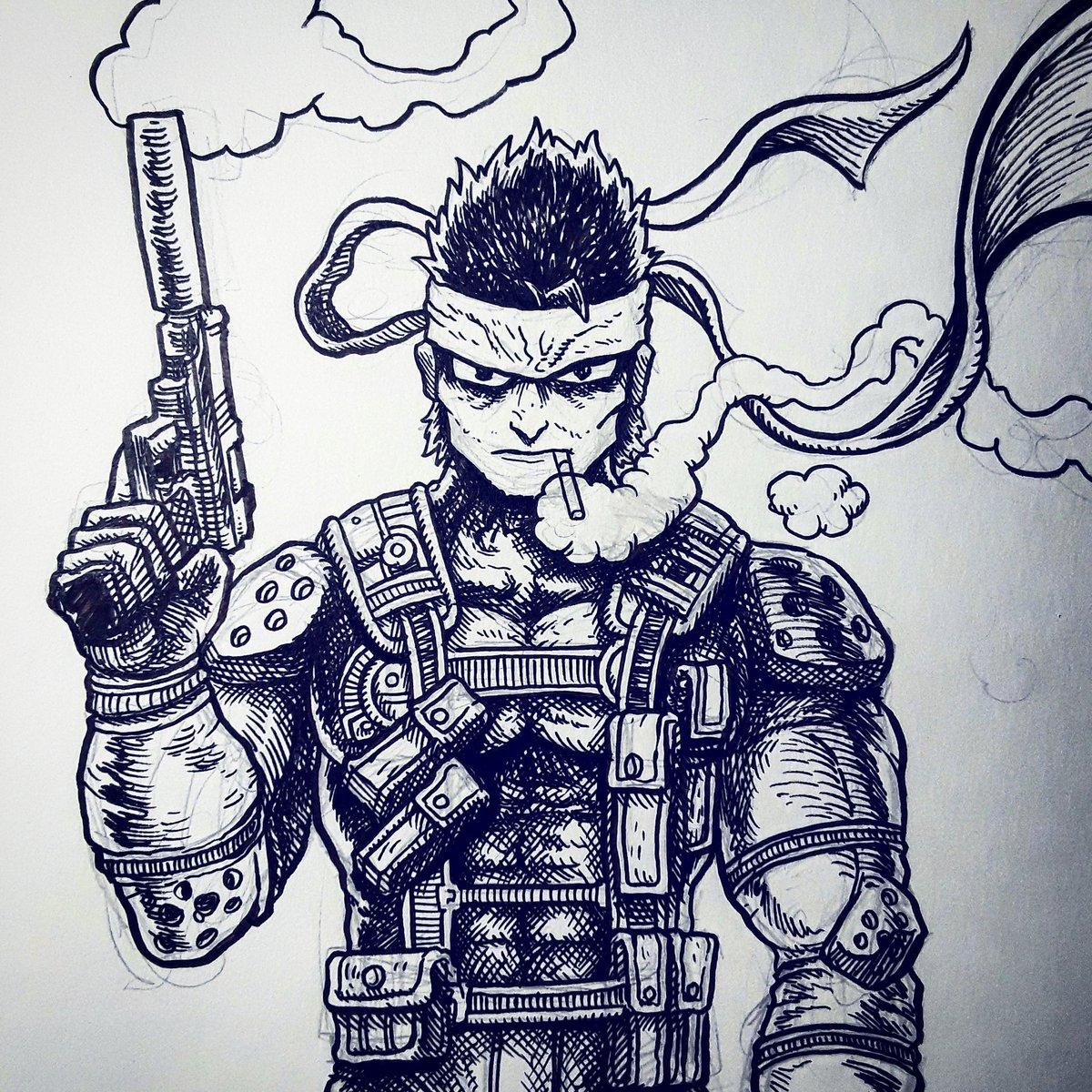 M Deeeee On Twitter Mgs1 Solid Snake Commission Wip Mgs