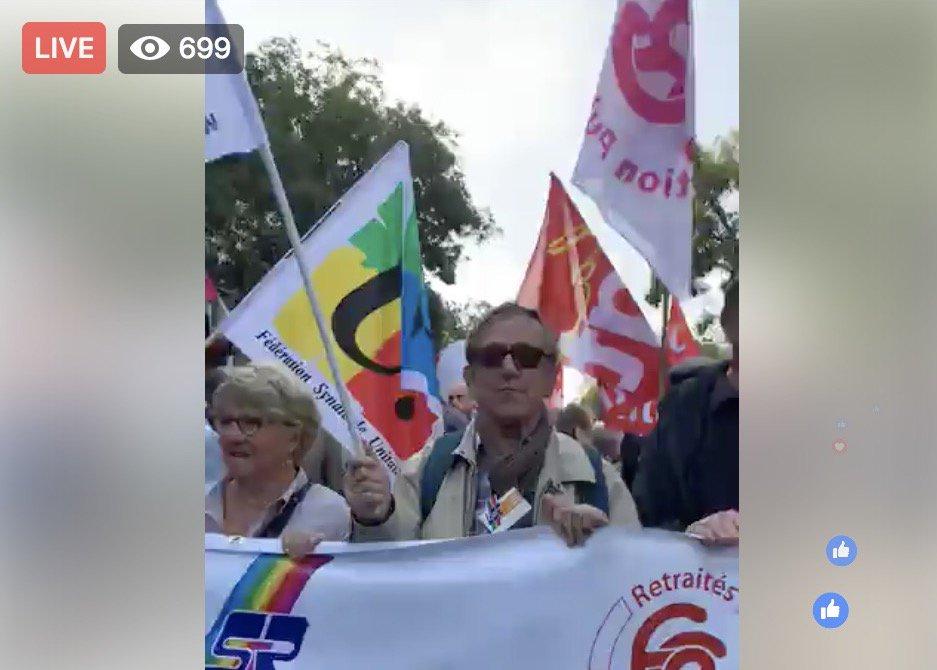 DIRECT - Manifestation des retraités contre la politique d'Emmanuel Macron. @RemyBuisine en immersion dans le cortège : https://t.co/z68t59N47N
