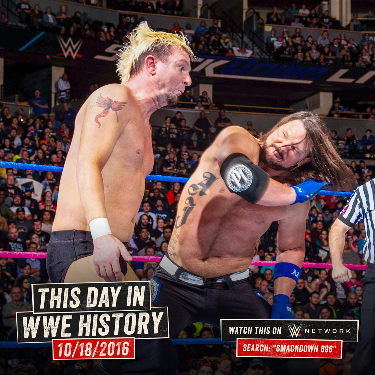 .@realellsworth got the chance of a lifetime TWO years ago today on #SDLive against @AJStylesOrg! wwe.me/7h5IHc