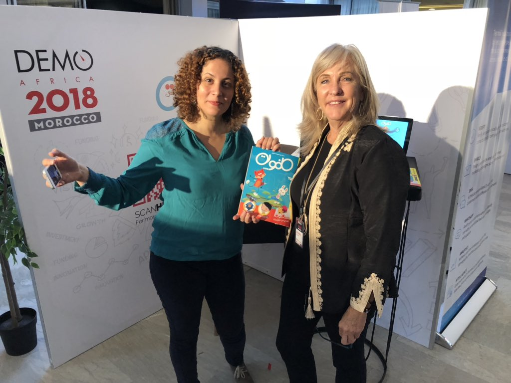 Another outstanding female founder @DEMOAfrica ! Awatef Mosbeh founder of @toufoulakids based in @Tunisia has tied together a kids magazine with an app to help kids discover in ecology and #STEM topics. #entrepreneurs @Flat6LabsTunis