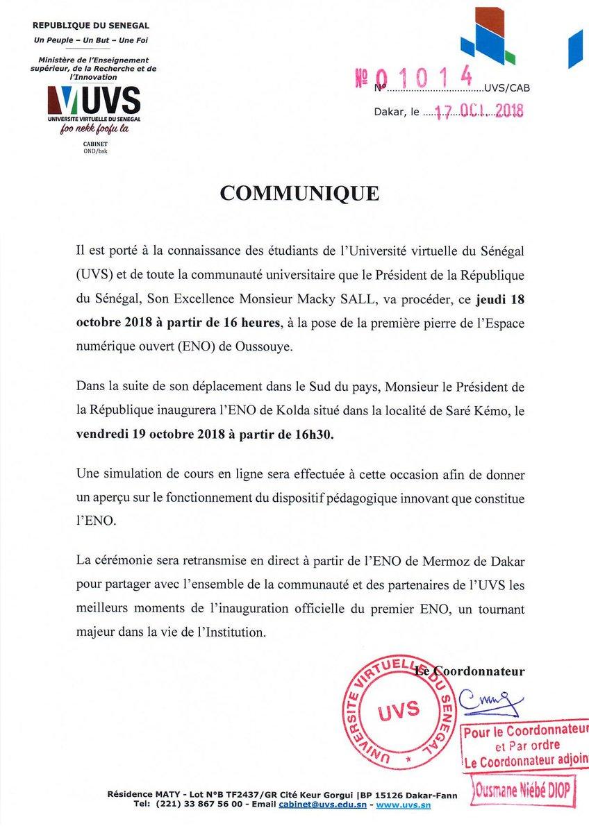 Le Président de la République du Sénégal, Son Excellence Monsieur @Macky_Sall procédera à la pose de la première pierre de l\