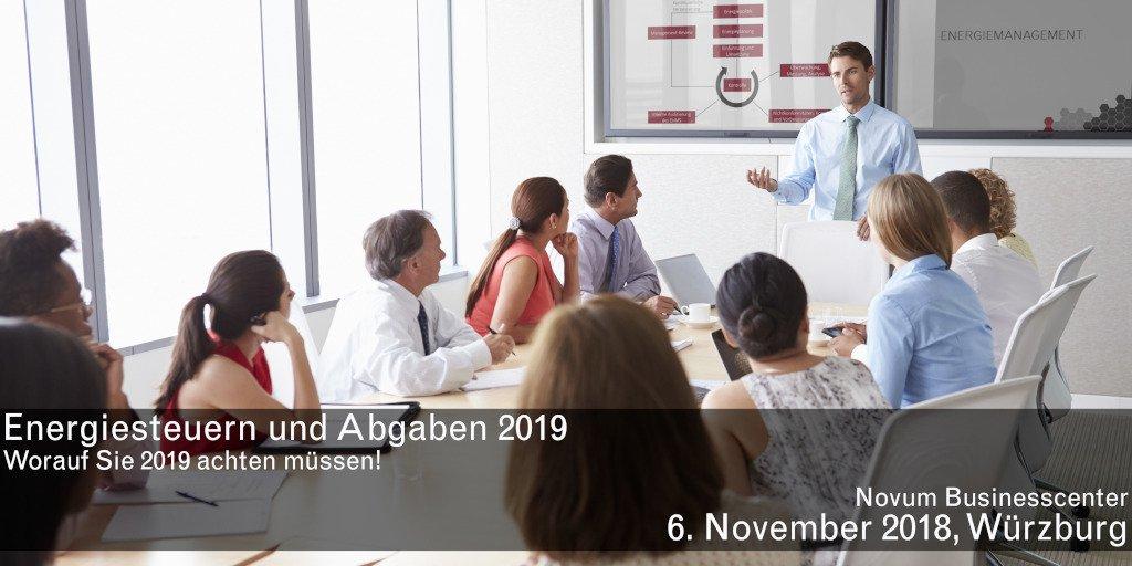 test Twitter Media - 6. November in Würzburg: Veranstaltung ENERGIESTEUERN UND ABGABEN 2019 - Worauf Sie 2019 achten müssen! Bereiten Sie sich frühzeitig auf Anforderungen, Nachweise und Meldefristen vor. Machen Sie sich fit für das Energiejahr 2019! https://t.co/xWRhlS278Y https://t.co/DPvZbdlW2d
