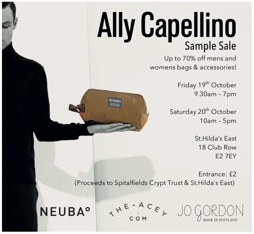 JUST IN >>> @AllyCapellino + Friends #SampleSale – 19th – 20th October https://t.co/lF8cRW6OVy #London