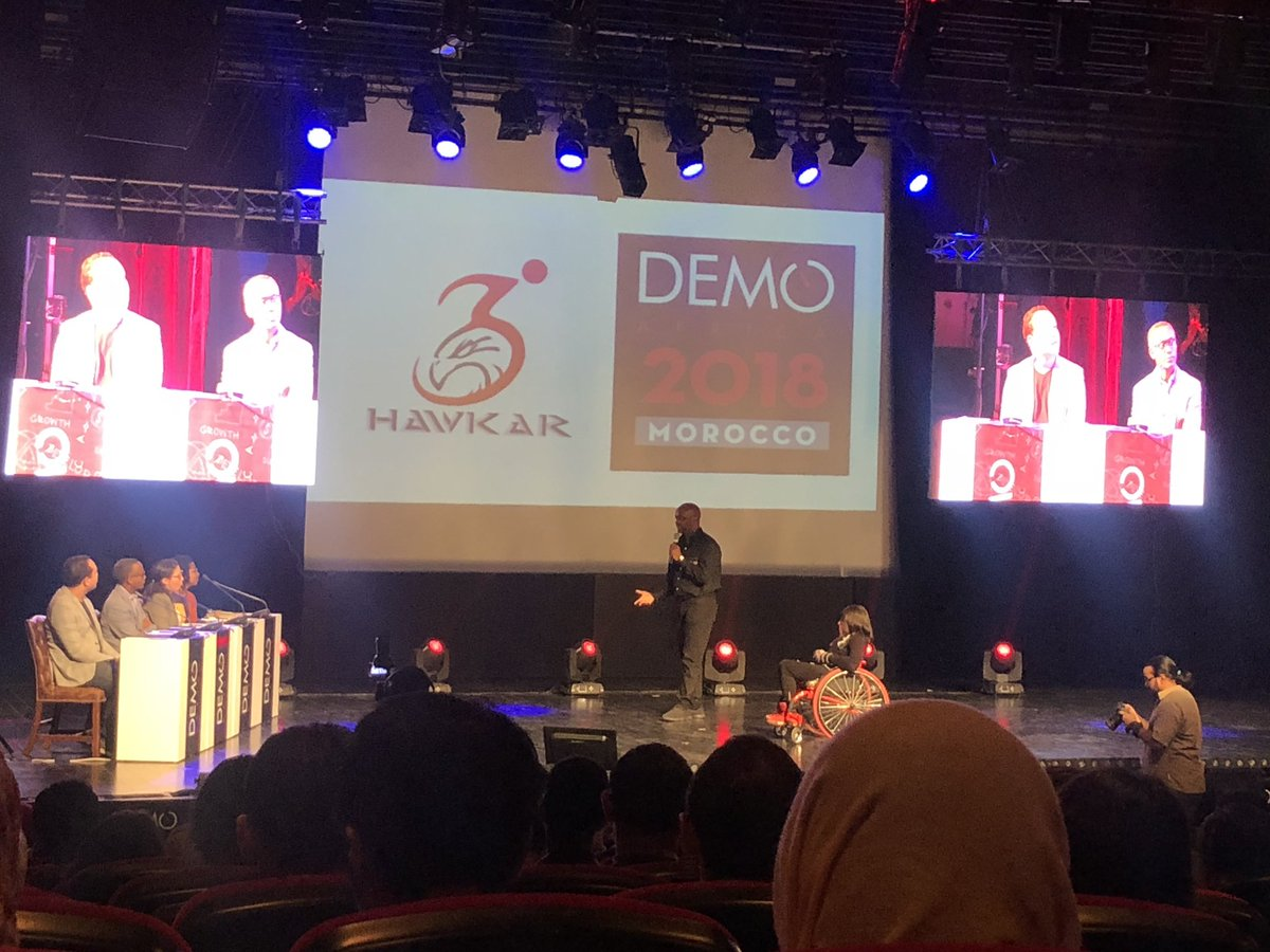 @micah_found @DEMOAfrica first startup to pitch Hawkar building a car for mobility challenged people! Amazing stuff