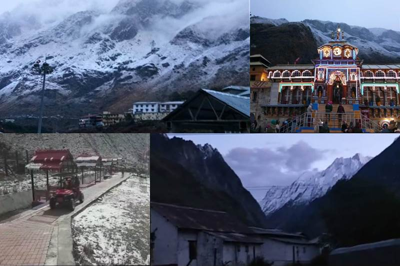 #Uttarakhand: Breathtaking #pictures of fresh #snowfall at #Kedarnath, #Badrinath https://t.co/FHlOVLbL3a