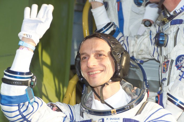 #OTD 15 years ago: 18 October 2003, launch of #ESA astronaut @astro_duque on Soyuz TMA-3 from Baikonur cosmodrome to @Space_Station on #Cervantes mission  https://www. esa.int/Our_Activities /Human_Spaceflight/Cervantes_Mission &nbsp; … <br>http://pic.twitter.com/TvmWVgm5yR