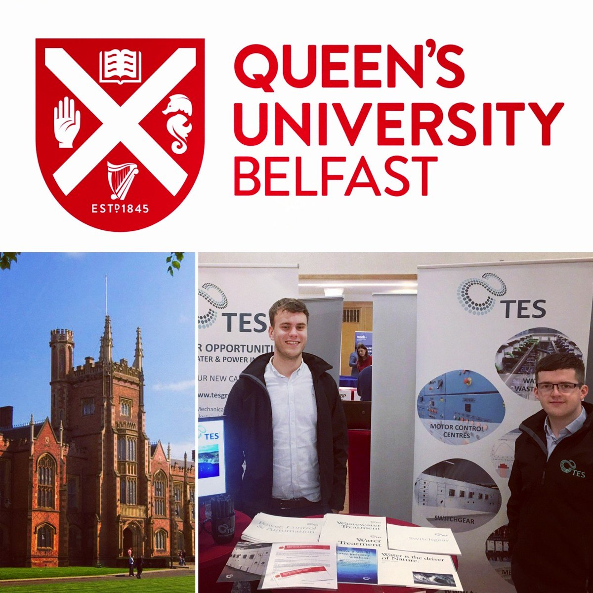 test Twitter Media - TES are at the @QUBelfast Graduate recruitment fair all day today. Come along to stand 84 to find out about the Graduate and Placement positions available. #graduate #Jobs https://t.co/1uZFhvbxGE