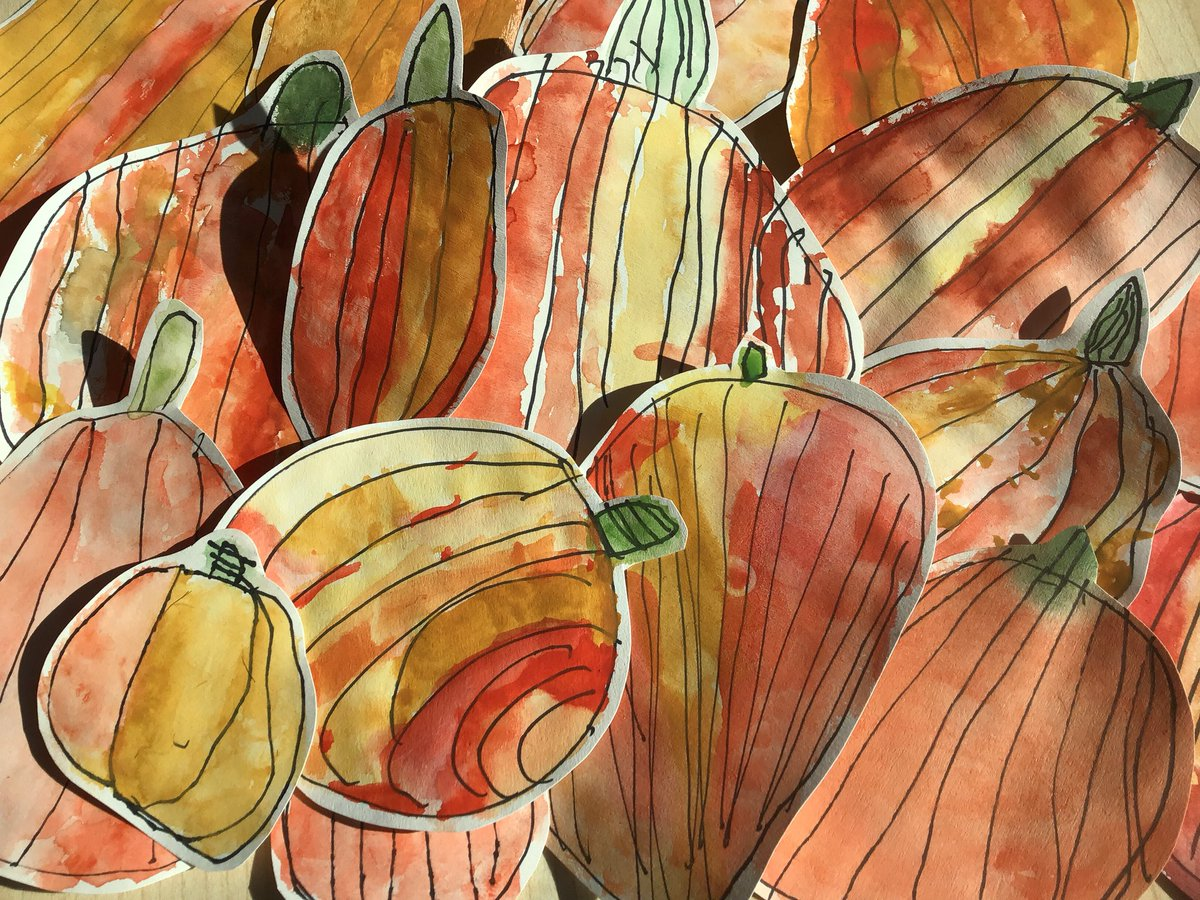 test Twitter Media - RT @CHPSrec: And the pumpkins keep on growing..... using watercolours this time. #CHPSrec #CHPSart https://t.co/sGO4JzHayG