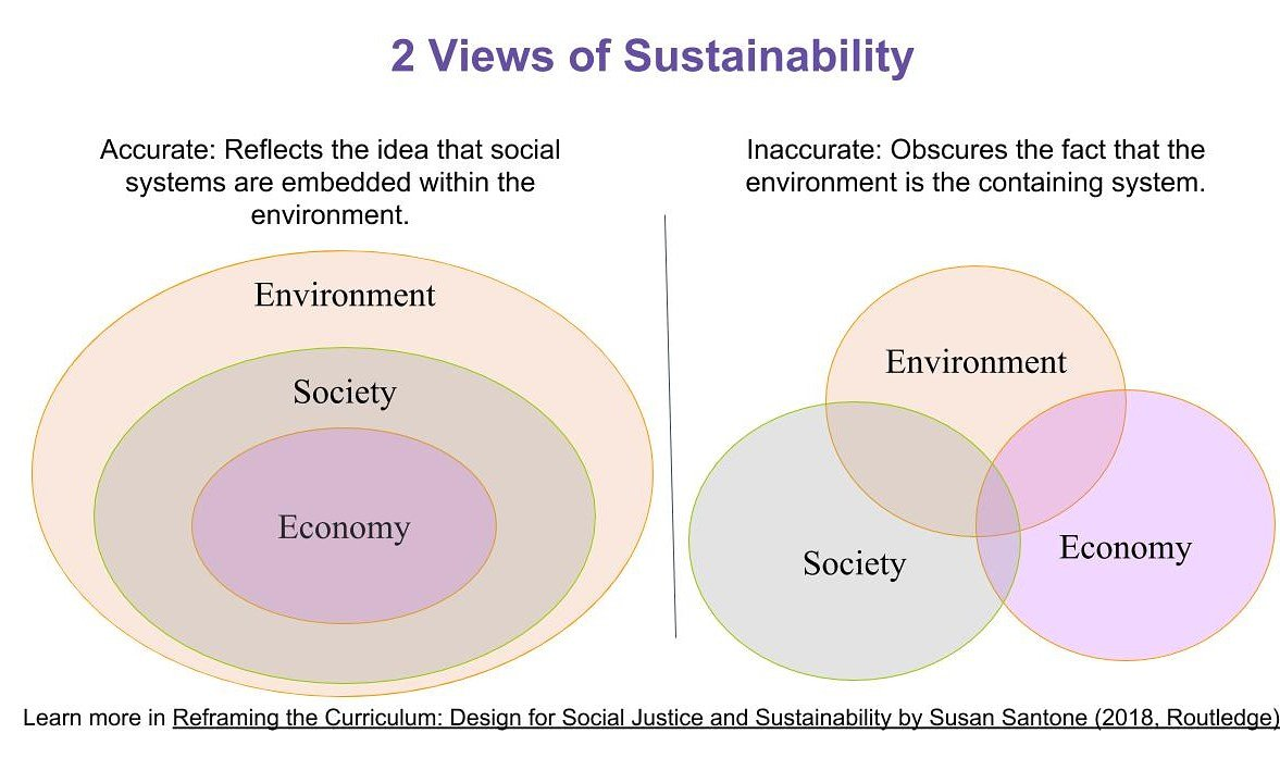 Creative Change On Twitter Some Insights On Sustainability From Yesterday S Webinar W Susansantone Ussee Ecological Economics Shows Us Why The Left Depiction Of Sustainability In The Pic Is Accurate The Environment