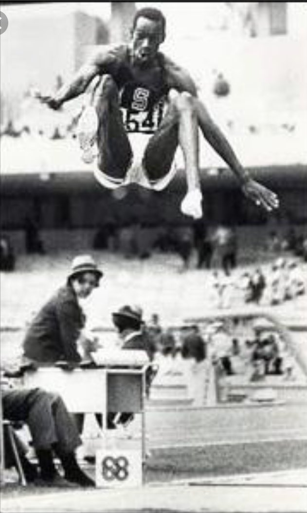 50 years ago today: Bob Beamon's mindblowing long jump at the 1968 Olympics, which shattered the world record by nearly two feet. Backstory on the amateur photog who took this iconic photo: https://t.co/F24HDPk0wb
