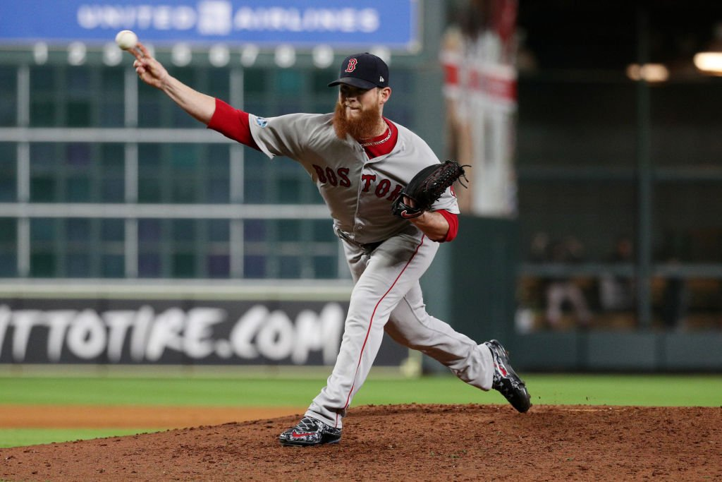 By winning 2 straight in Houston, the @RedSox have put themselves 1 win away from their 1st World Series appearance since 2013.  Prior to tonight, Craig Kimbrel had never recorded a save of more than 4 outs (earned his 338th career save, including postseason).