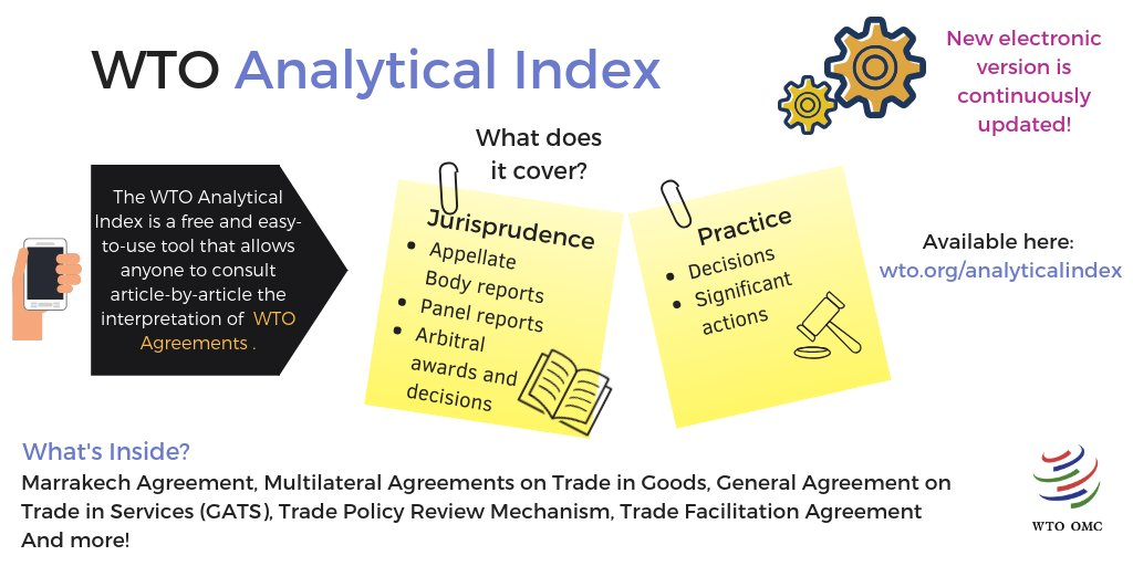 Wto On Twitter Have You Checked Out The Wtos Analytical Index