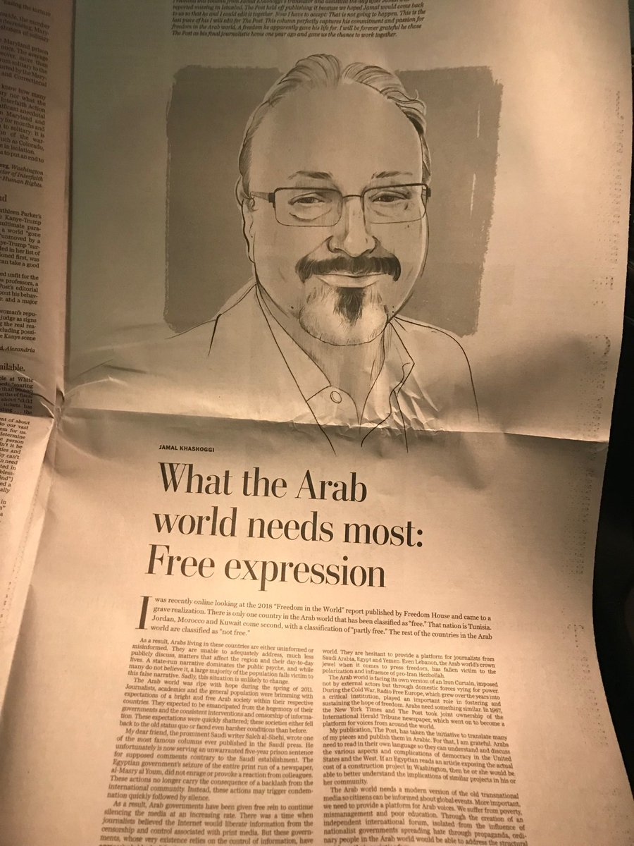 Powerful Op-Ed page in today's @washingtonpost ...